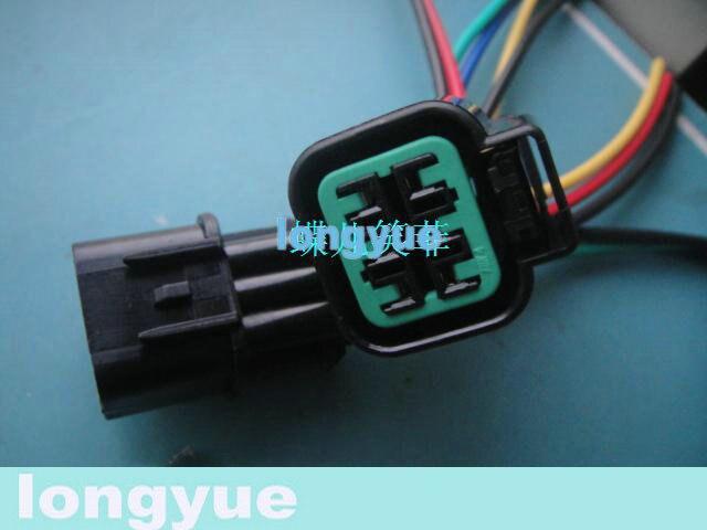 longyue 10set 6cestný kolík Mitsu light socket pigtail headlamp Konektor kabelového svazku pro Hyundai a Kia Maxima nový15cm drát