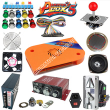 DIY JAMMA arcade kit box 4S 680 in 1 Game Board Coin Acceptor Power JAMMA wire American / ZIPPY joystick LED Button