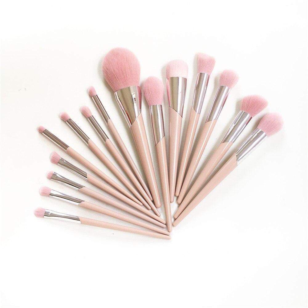 Набор из 15 кистей для макияжа, набор 110 кистей для нанесения  основы, 120 кистей, для растушевки теней, 210 для растушевки розовых  волосАппликатор теней для век