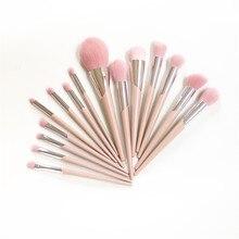 FB SERIES 15 кистей полный набор 110 основа для макияжа 120 хайлайтер 210 Allover тени для век Смешивание розовых волос инструмент для макияжа