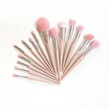 FB SERIES 15 Brushes Complete Set   110 Foundation 120 Highlight 200 Allover Eyeshadow 210 Blending Pink hair Beauty Makeup Tool