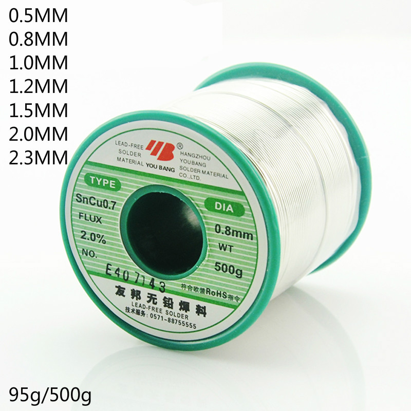 Lead free solder wire free clean high activity environmentally friendly rosin core solder wire 0.5 0.8MM tin wire