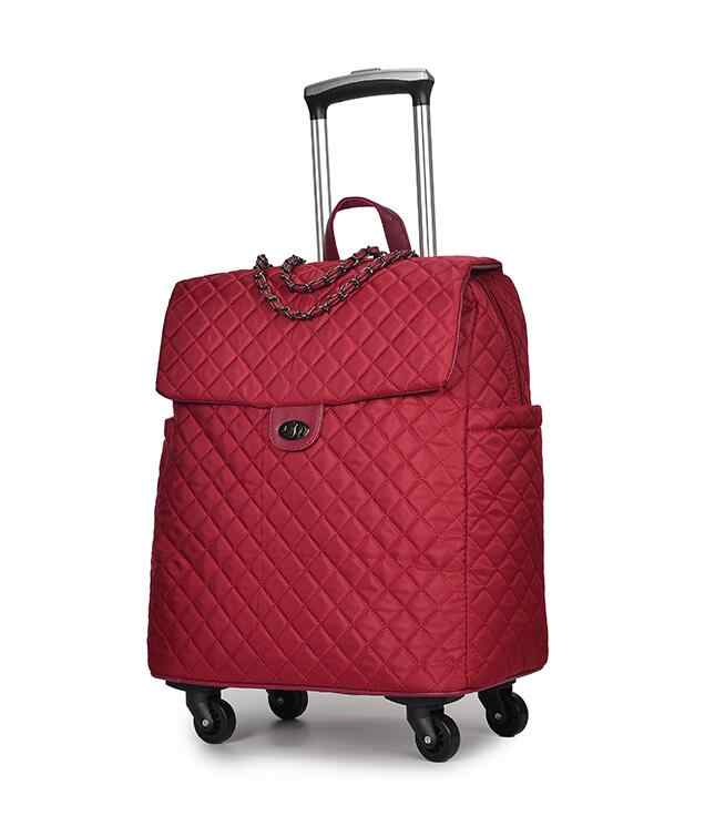 Brand Women Wheeled Luggage bag Cabin travel Trolley Bags on wheels rolling luggage bag for woman Trolley Suitcase wheeled Bags