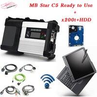 האיכות הטובה ביותר MB הכוכבים c5 עם 2017.9 מצב תוכנת HDD החדש ב מחשב נייד x200 sd להתחבר c5 האוטומטי סורק DHL משלוח חינם