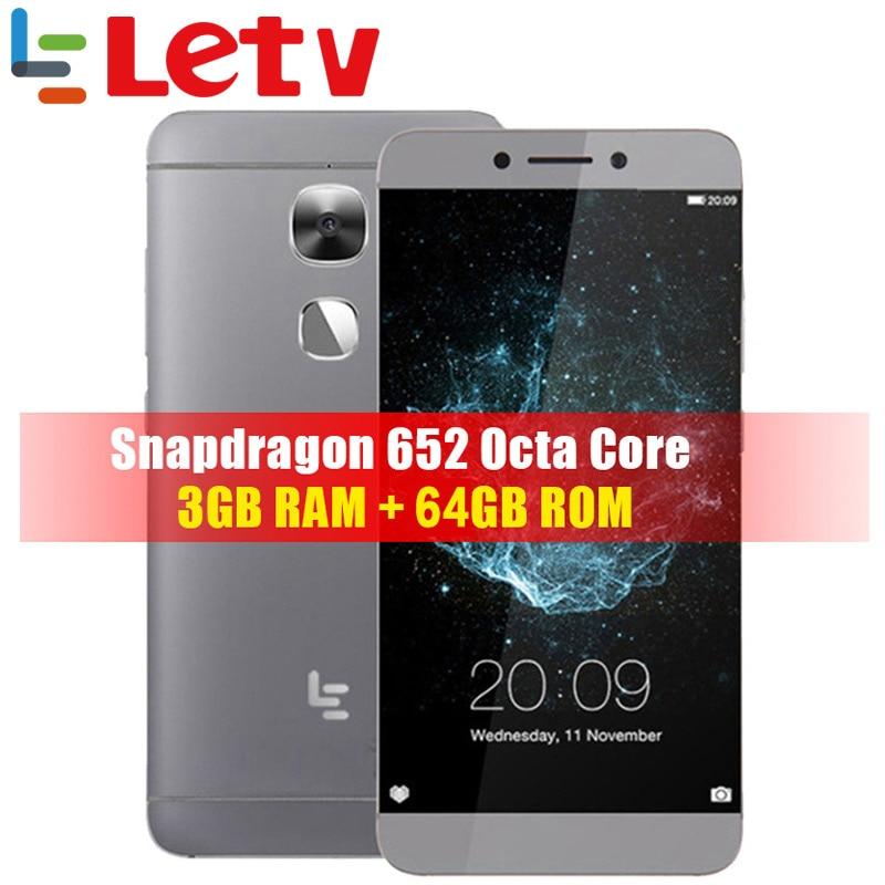 Глобальная версия LeTV LeEco X527, 3G ram, 64G rom, 4G LTE, мобильный телефон Snapdragon 652, четыре ядра, 5,5 дюймов, FHD, 16,0 Мп, отпечаток пальца