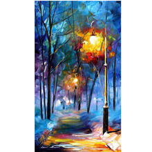 New Arrival Hand Painted Canvas Painting Modern Abstract The Sreet Lamp Oil Wall Art Home Decoration Living Room