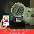 USB 3D Lamp NBA Basketball Music Nightlight as Bedroom Besides Lampara Bluetooth Speaker Touch Table Lamp with Remote Control