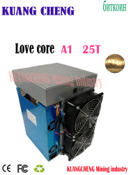 New model ASIC miner BTC BCH miner Love Core A1 Miner 25T 10nm SHA256 ASIC With PSU Economic Than M3 T3 T2T E9i Antminer S9 T17