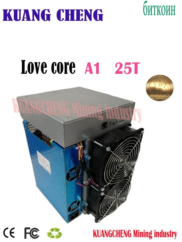 Nouveau modèle ASIC mineur BTC BCH mineur amour noyau A1 mineur 25T 10nm SHA256 ASIC avec PSU économique que M3 T3 T2T E9i Antminer S9 T17