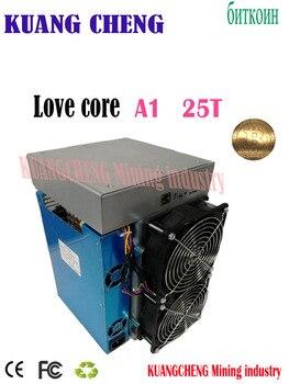 Utilisé ancien mineur ASIC BTC BCH mineur amour noyau A1 mineur 25T 10nm SHA256 ASIC avec PSU économique que M3 T3 T2T E9i Antminer S9 T17