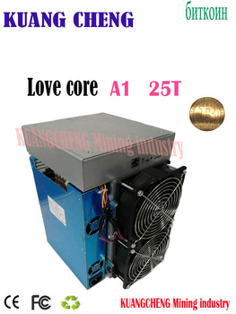 used old ASIC miner BTC BCH miner Love Core A1 Miner 25T 10nm SHA256 ASIC With PSU Economic Than M3 T3 T2T E9i Antminer S9 T17 the old asic miner antminer l3 504m s scrypt miner is better than the antimer l3 can configure a variety of power
