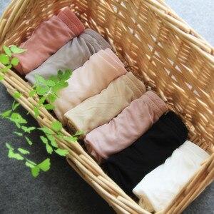 Image 5 - Suyadream 3 pçs/lote calcinha feminina 100% natural seda briefs mid rise underwear roupa interior de saúde 2020 novo todos os dias usar íntimos