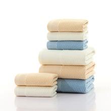 купить 100%Cotton Soft Twill Absorbent Bath Towel Home Towel Set Bath Towels for Adults Comfortable Breathable дешево
