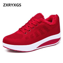 Hot Sales 2019 New Plus Velvet Winter Shoes Women Sneakers Shoes Non-s