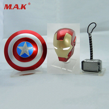 PVC Models Collection Toy 1/12 Scale Avengers Figure Accessories Hammer Iron Man Helmet Shield For 6 inches Action Figure цена