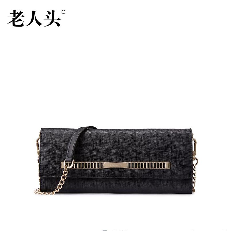 LAORENTOU2016 new high quality luxury fashion hand bag leather envelope bag counter genuine well known brands