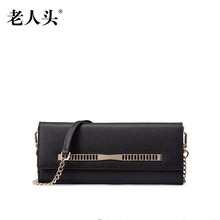LAORENTOU2016 new high quality luxury fashion hand bag leather envelope bag counter genuine, well-known brands of women