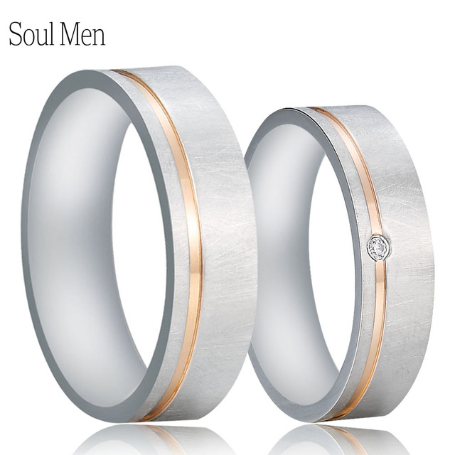 6mm Silver Elegant Wedding Rings For Women Men Cz Stone Alliance