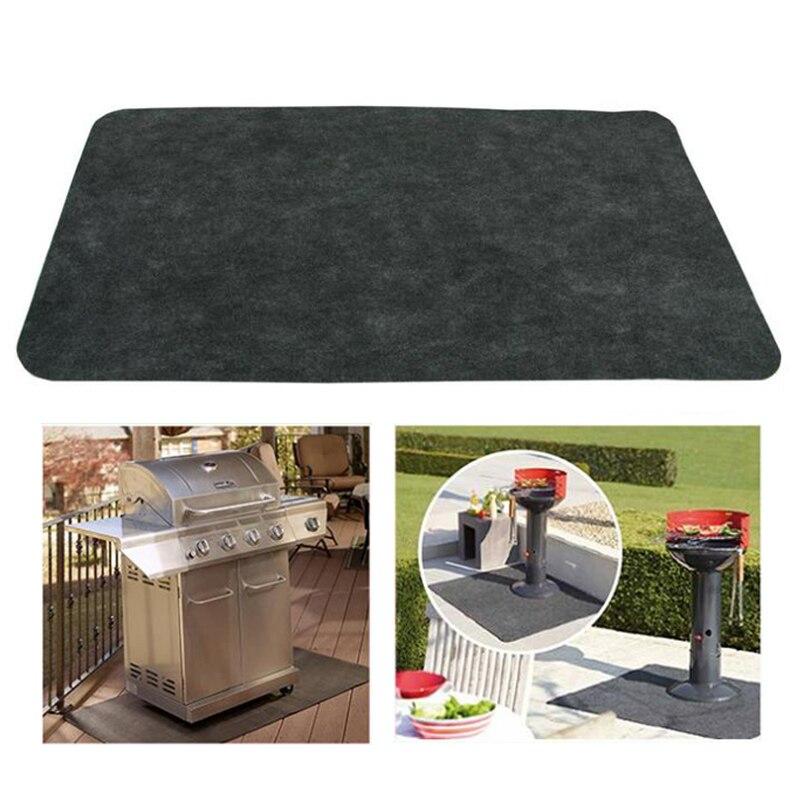 Антипригарный коврик для барбекю и гриля, коврик для гриля для барбекю, антипригарный жаростойкий коврик для защиты пола на заднем дворике