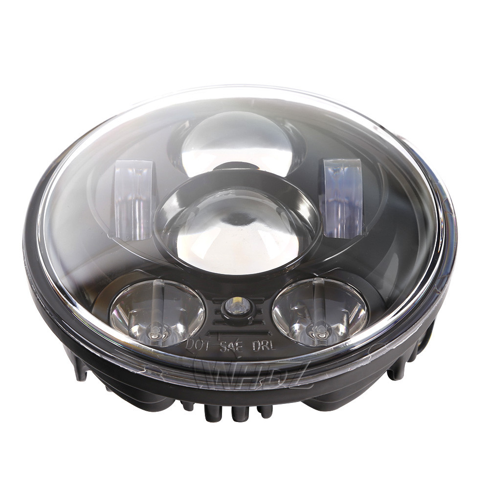 New 5.75 5-34 Inch Projector Round LED Headlight DRL for Harley Davidson Motorcycles (23)