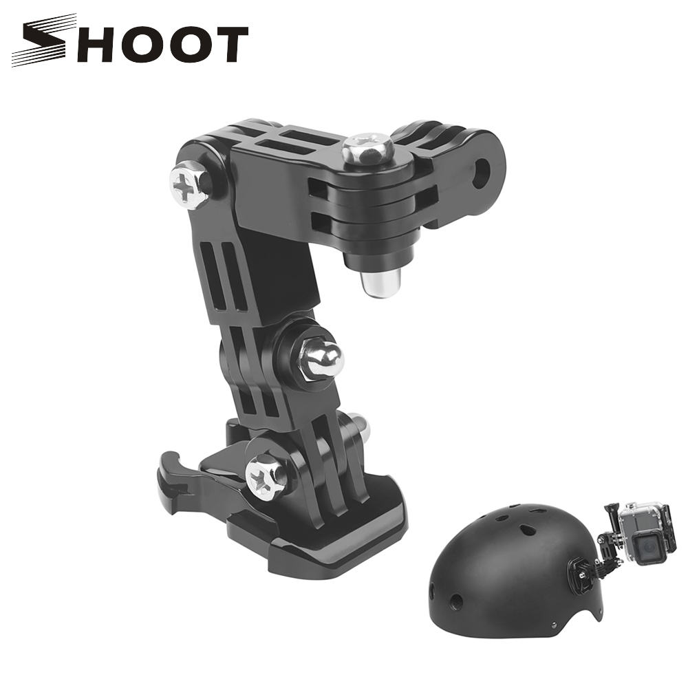 Tenrry Motorbike Helmet Mount Front+Side Kit with J-Hook Clasp Quick Clip Set for Gopro Hero 7 6 5 4