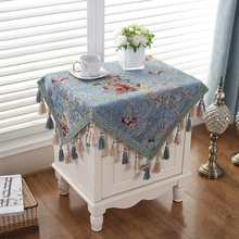 Bedside table square tablecloth fabric light luxury European refrigerator washing machine air conditioning cover