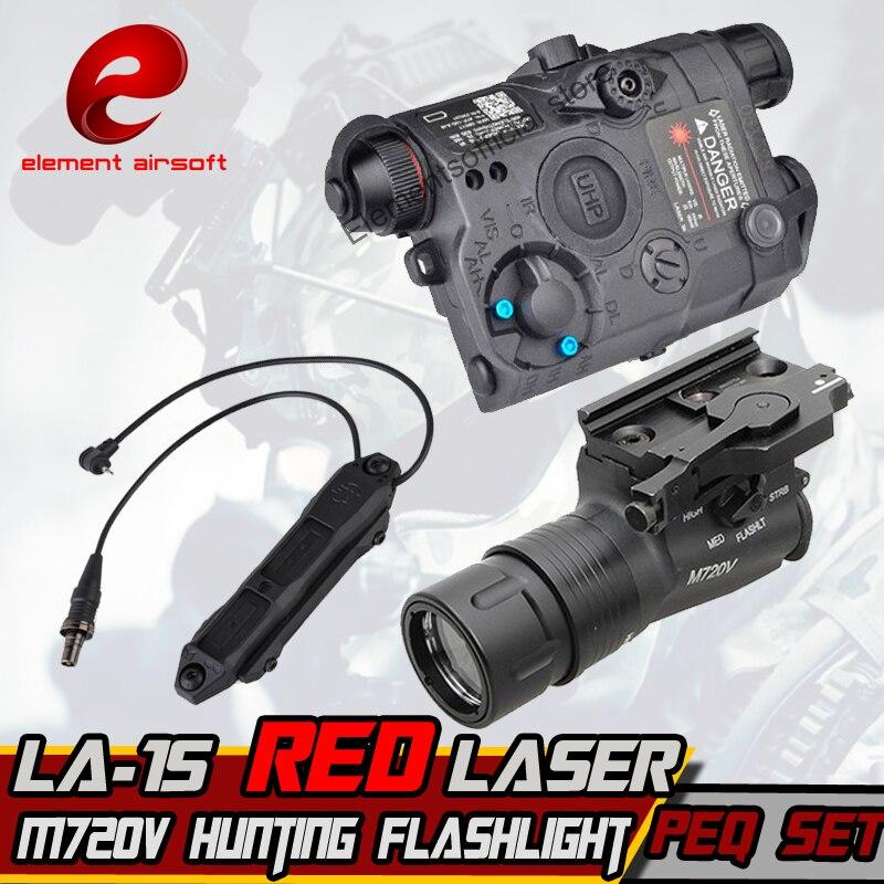Élément M720V Chasse lampe de Poche LA-5/PEQ-15 LA-SC UHP Rouge Augmentée Pression Montage Double Contrôle Interrupteur tactique Arme Lumières
