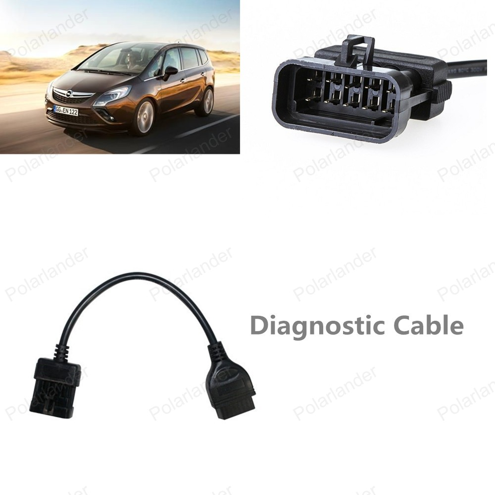 Top Sell OBD2 interface Diagnostic Adapter Connector Car Diagnostic Cable  for Opel High Quality