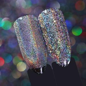Image 4 - Doğan PRETTY Galaxy tırnak Glitter lazer Holo tırnak pul Paillettes Pigment tozu tırnak sanat toz 0.2g 0.5g isteğe bağlı