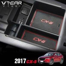 Vtear для Mazda CX5, 2017-2018 2019 аксессуары подлокотник коробка для хранения центральной консоли контейнер-Корзина лоток держатель закладочных уборки