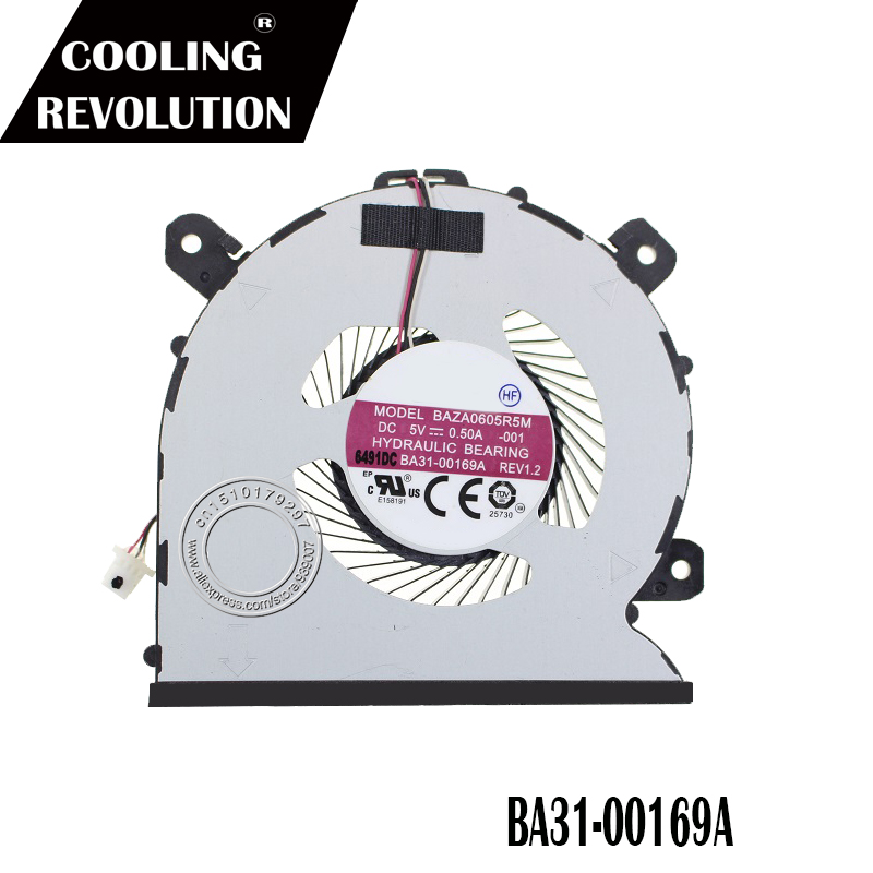 New CPU Cooling Fan For Samsung Notebook 9 NP900X5N BA31-00169A BAZA0605R5M DC5V 0.50A -001