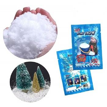 10 sztuk śnieg Instant w proszku sztuczny śnieg puszysty śnieg Super Absorbant DIY chmura szlam na romantyczny ślub wystrój na święta bożego narodzenia tanie i dobre opinie PARTY DIARY CN (pochodzenie) Proszku śniegu 1-0004950