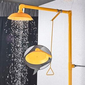 Image 2 - جهاز غسل العين المركب من الفولاذ المقاوم للصدأ 304 Dfrkjhre جهاز غسل عمودي للعين للاستحمام في حالات الطوارئ