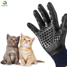 Silicone Dog Pet Brush Glove Deshedding Gentle Efficient Grooming Bath Cat Cleaning Supplies Combs