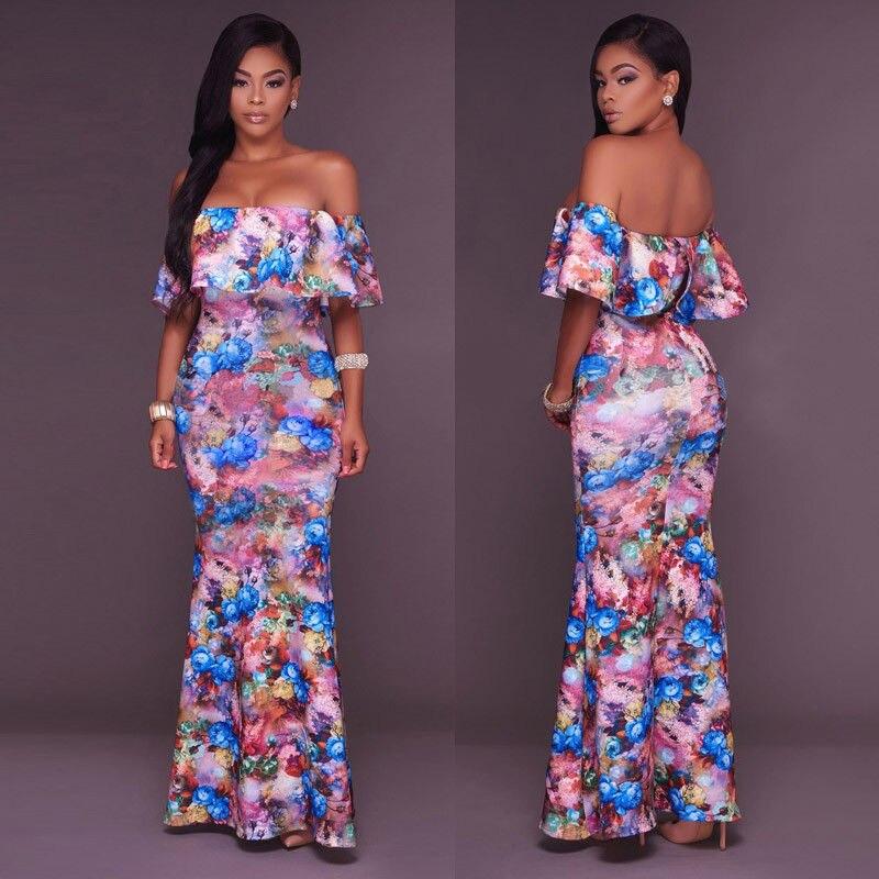HIRIGIN 2017 Hot Women BOHO Long Formal Party Dresses Prom Floral Summer Beach Girl Maxi Dress