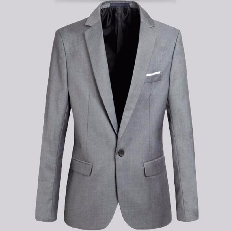 10.1High quality men suits jacket solid color work business suits jacket single breasted custom groom best man dress jacket