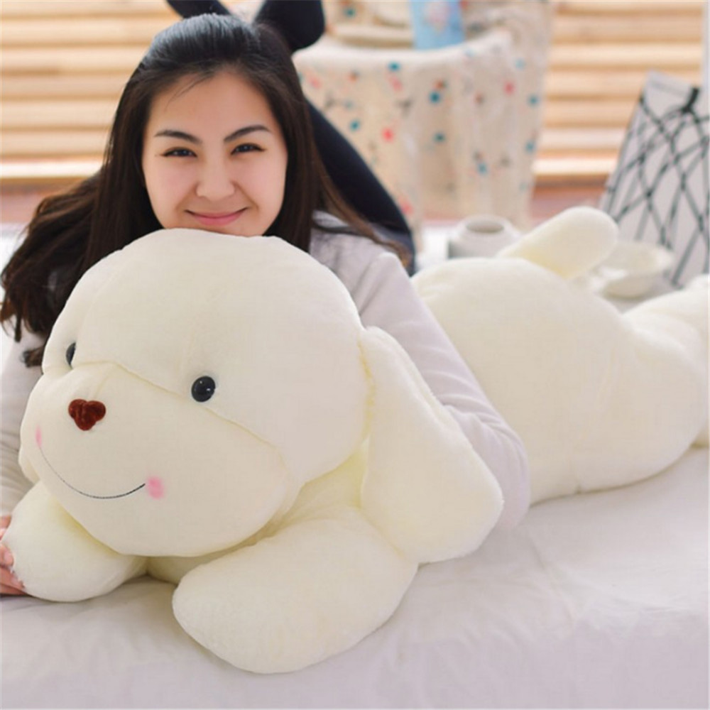 Fancytrader 39'' / 100cm Super Cute Plush Jumbo White Dog Toys, Nice Gift for Child, and Decoration Toys, Free Shipping FT50068 fancytrader 39 100cm giant plush lovely rubber duck cute birthday present gift and decoration free shipping ft50007