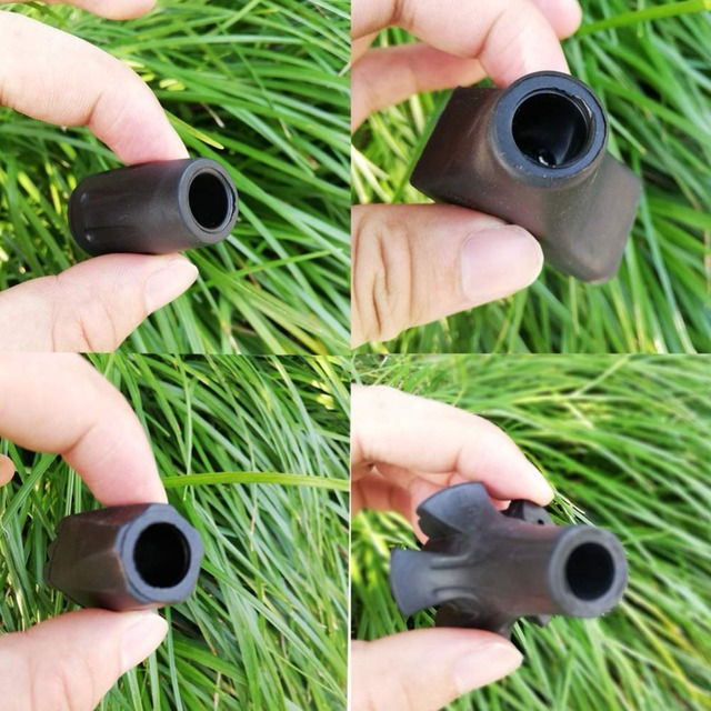 Trekking Poles Rubber Tips 4 Pairs Set