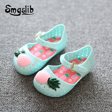 2018 Summer Mini New Boots Girls Sandals Fashion Beach Plastic Shoes Princess Glitter Single