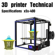 DIY Aluminum Mini Kit Printing Size With Dual Z-axis Rod HD LCD Screen Double Fan 3D Printer Dual Extruder