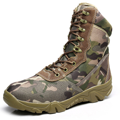 Autumn Camouflage Outdoor Boots Men's Army Military Combat Tactical Boot Shoes Hiking Sport Work Shoes Mountain Climbing Shoes