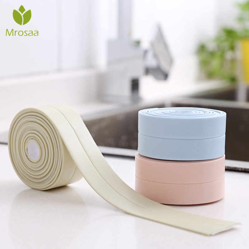 Mrosaa Anti-fouling Waterproof Sticker Seal Ring Strip Kitchen Toilet Wall Tape Decorative PVC films border room sticker