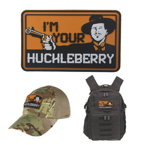 ПВХ я ваш Гекльберри патчи забавные для поддержания боевого духа патчи крюк назад тактический армейский значок DIY для жилета