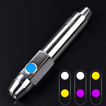 Yellow White Light CREE LED Gem Torch Rechargeable Jade LED Flashlight 365NM BlackLight UV Portable Lampe for Jewelry Inspection