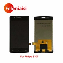 10 шт./лот Высокое качество 4.0 «для Philips S307 Полный ЖК-Дисплей с Сенсорный экран планшета Панель сборки выполните