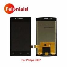 "10 Unids/lote Alta Calidad 4.0 ""Para Philips S307 Pantalla Lcd Full Con Pantalla Táctil Digitalizador Asamblea Completa"