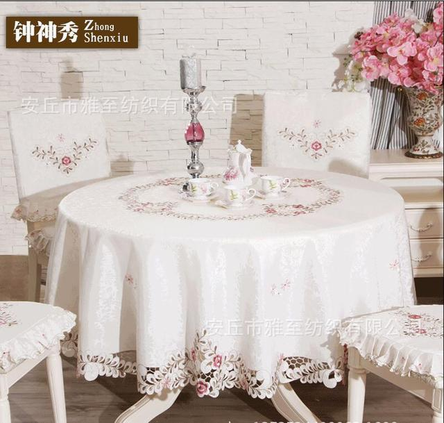 garden hollow embroidered cloth table cloth tablecloths coffee table cloth tablecloth cushion - Cloth Tablecloths