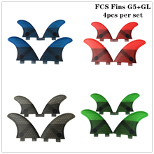 FCS G5+GL in per set 4Colors Honeycomb Upsurf logo Surfboard Quad fin sets