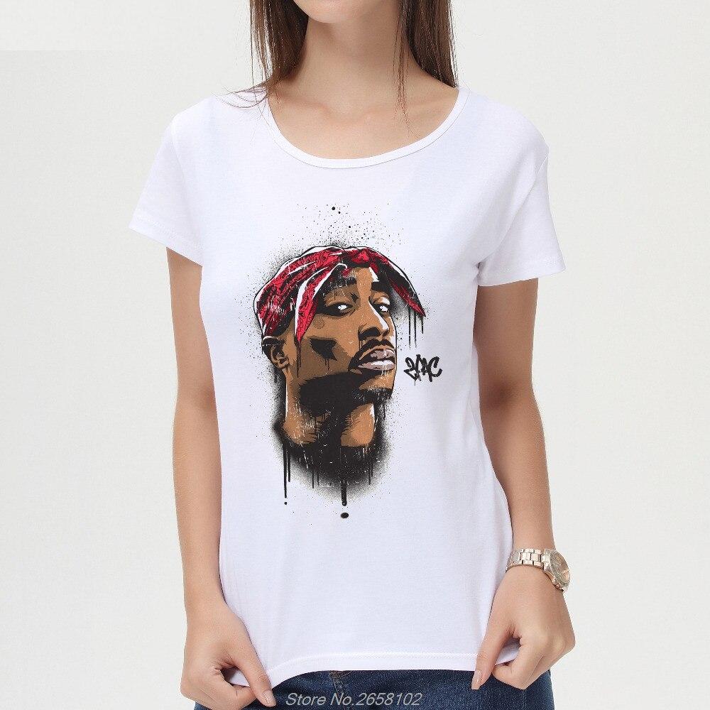 97d6fb9f851 Rapper 2Pac Tupac Printed Women T Shirt Short Sleeve O-Neck Tops Fashion T