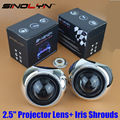 Car Styling Retrofit Mini 2.5 inch HID Bixenon Projector Headlight Lens Automobiles Headlamp Lenses Kit H1 Iris Shrouds H4 H7